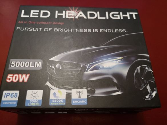 LED крушки H3 5000lm, 50W