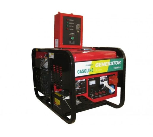 11 kw Автоматизиран Бензинов Генератор за ток с АТС табло монофазен