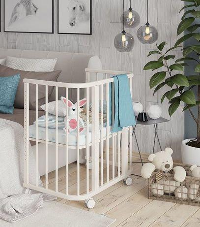 Приставная кроватка эстель кроватка манеж Алматы + доставка на дом