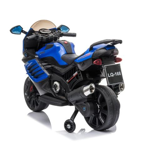 Motocicleta Electrica CoCo ToYs pentru copii LQ168 BIG alba , 12 volti