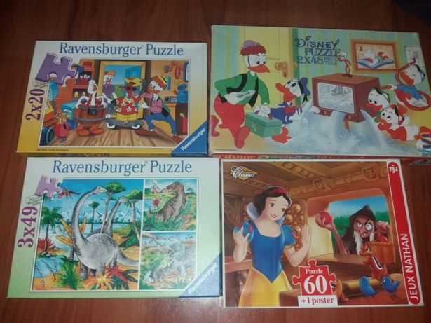 Puzzle vechi Ravensburger jocuri vechi pentru copii