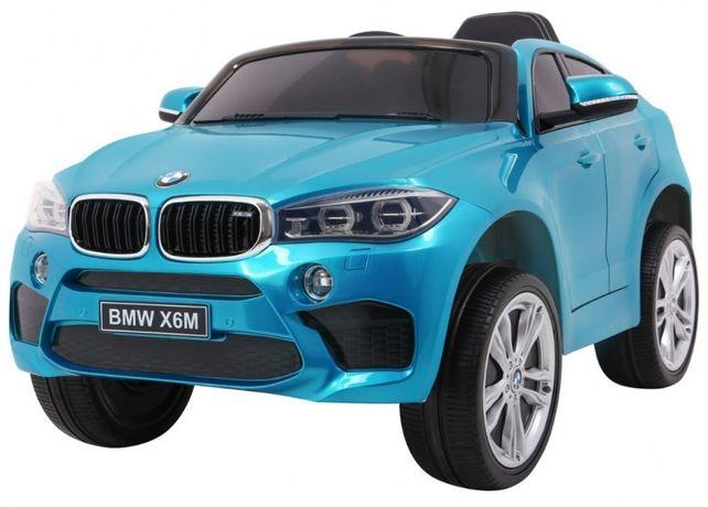 BMW X6M (2199) Albastru metalizat, masinuta electrica pentru copii