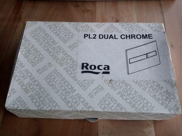 Бутон за вградена структура Roca цвят хром