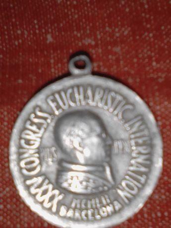 Medalie Religioasă PIO XII Barcelona 1952.