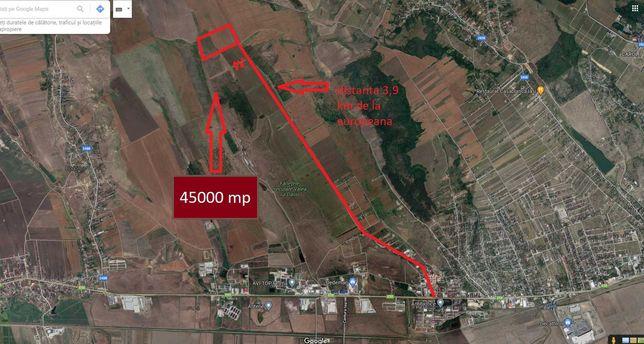 Teren Miroslava , 45000 mp,  ideeal pentru investitie.