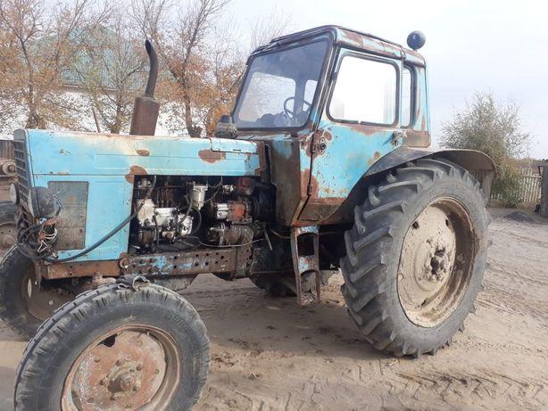 Трактор Белар 80, тележка, жатка валковая прицепная, пресс подборщик,