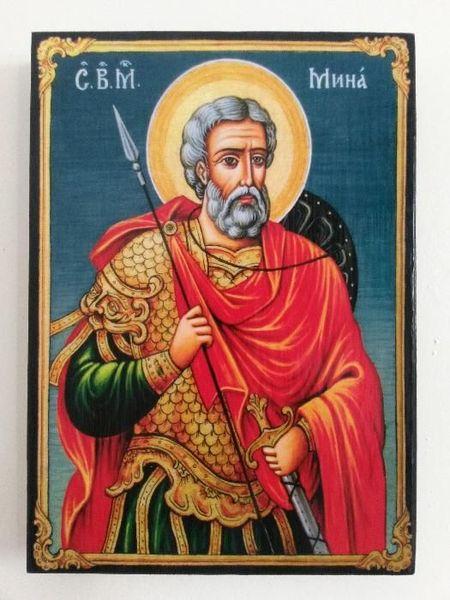 Икона на Свети Мина , различни изображения , icona Sveti Mina гр. Пловдив - image 1