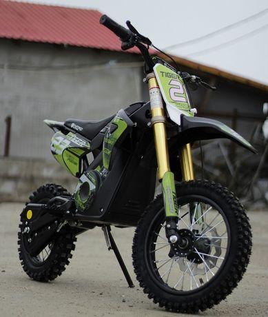 Motocicleta electrica Eco Tiger 1000W 36V 12/10 #Verde