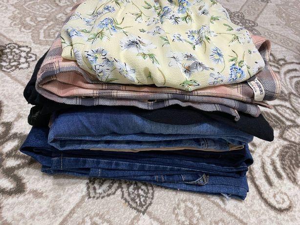 Джинсы,шорты,рубашка,кардиган,платье/9 вещей