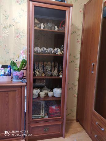 Шкаф для посуды (дверь стеклянная).