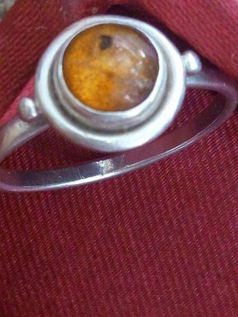 arg8nt masiv 925 cu chihlimbar natural, antic