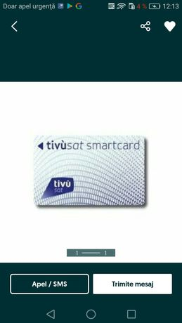 Vând cartela Tivusat pentru canala italiene Hd