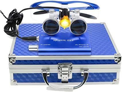 Бинокулярни увеличителни очила за стоматолози и хирурзи + Led осветите