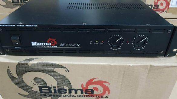 Професионален усилвател BIEMA W110 II 2 X 150W Нов