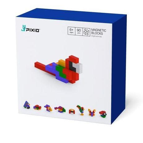 Set joc constructii magnetice PIXIO Bright Animals,app iOS/Android