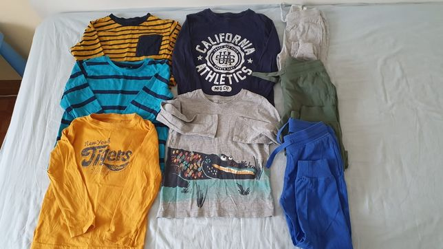 Lot bluze maneca lunga si pantaloni, HM, marimea 110, 4-5 ani, ca noi