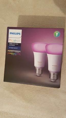 Bec Philips Hue 2xE27 White and color ambiance