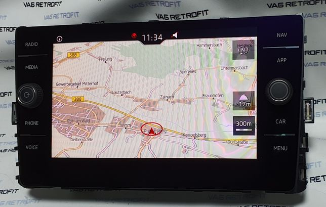 Display Navigatie VW Passat B8 Golf 7 Tiguan 8 Inch Touch 5G6919605B