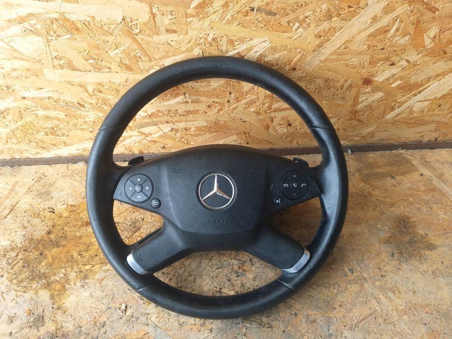 Volan+airbag Mercedes E class w212 model cu padele F1 Pitesti - imagine 1