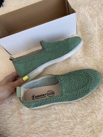 Обувь в сетку мокасины