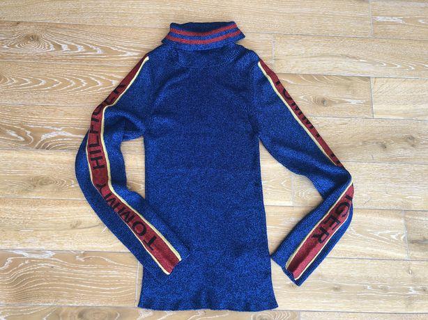 Bluza/Pulover TOMMY HILFIGER,fir metalic,mar L, Noua!