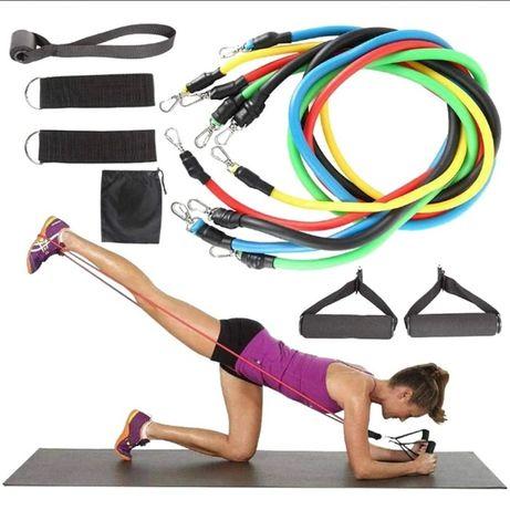 Колмплект тренировъчни ластици, фитнес ластик за домашна тренировка