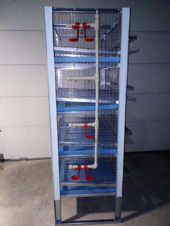 Продавам 4-ворна оборудвана професионална клетка за пъдпъдъци - 300лв.