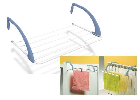 Практичен сгъваем сушилник за радиатор или парапет