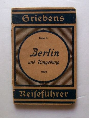 Карта на Берлин BERLIN Reisefuhrer / 1922 год.