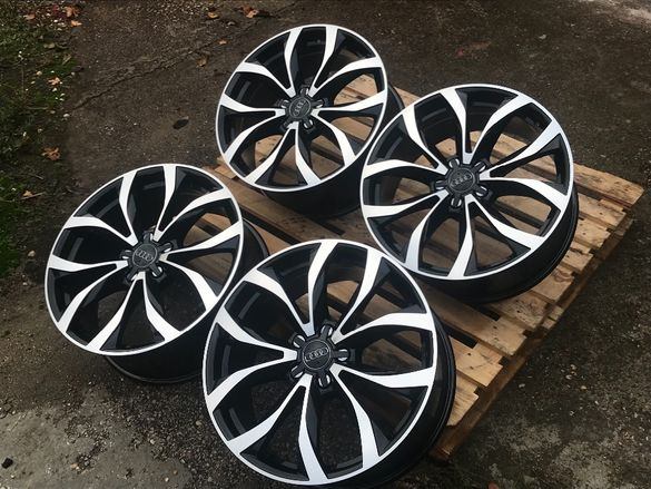 19''AUDI S-LINE 8,5J ET35 -A3-A4-A5-A6-A7-A8-TT-Q3-Q5-Quattro black po