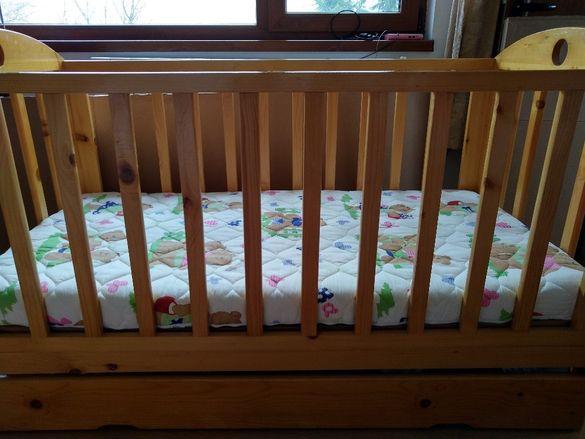 Дървено легло (люлка)70/140см
