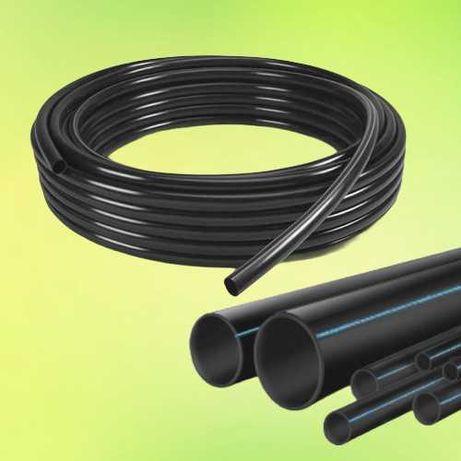 Труба ПНД для полива, капельное орошения, водопровод, канализация