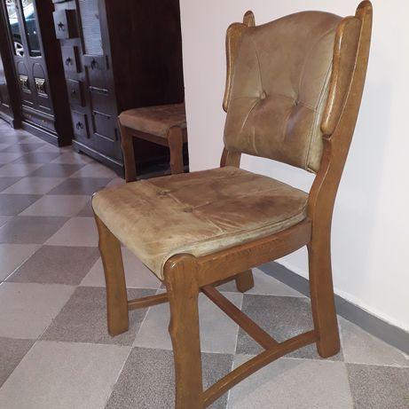 Масивни столове с естествена кожа
