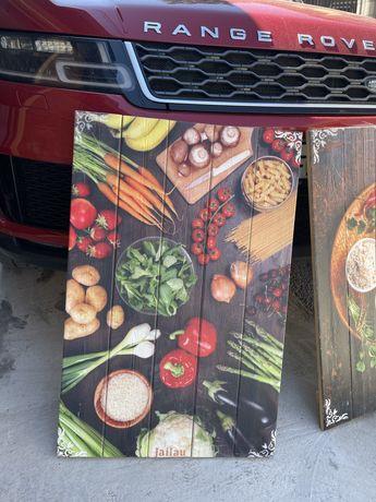 Картины из дерева для интерьера кафе и ресторанов
