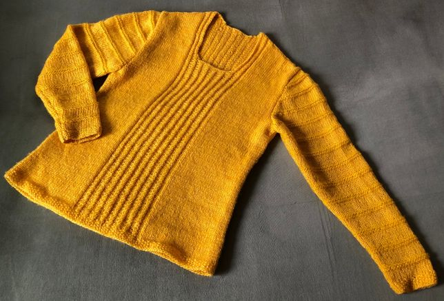 pulover mohair cu model lucrat manual