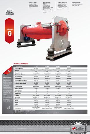 Cea mai eficientă centrifugă pentru covoare - Gar-Mak T1326 / G1425