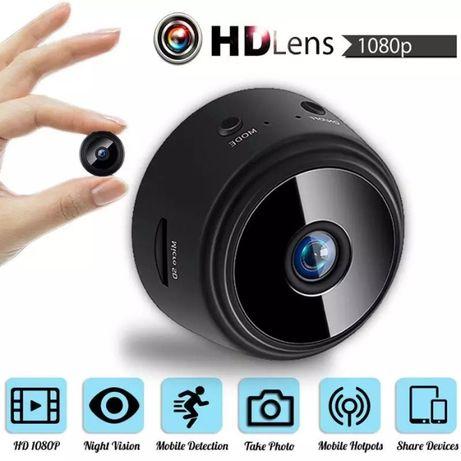 Мини WIFI IP охранителна шпионска камера FULL HD 1080p нощно виждане