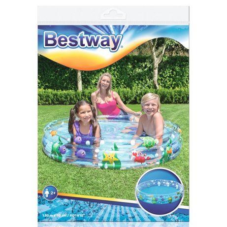 Надувной детский бассейн Bestway Размер бассейна: 152×30 см 282 л.