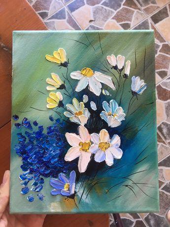 Tablou Pictura pe pânza in ulei / flori