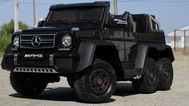 Masinuta electrica Mercedes G63 6x6 cu Mp4 si pentru Scaun adult Black
