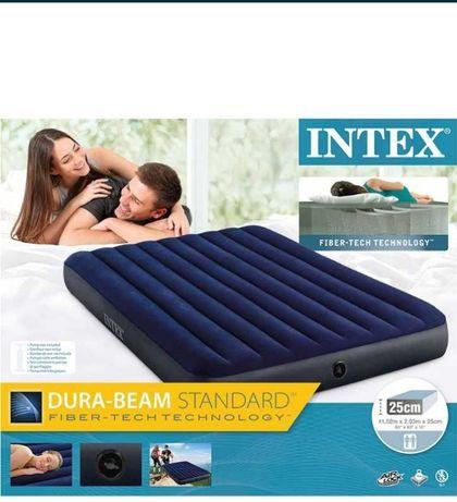 Надувной матрас INTEX 1,5 с насосом ручным