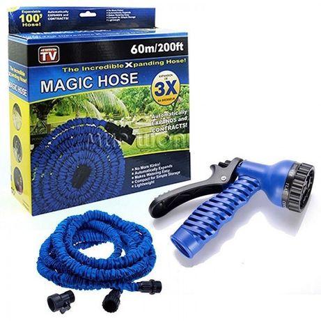 Шланг Magic Hose 60метров для полива сада с распылителем.