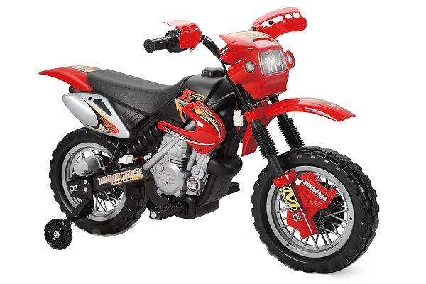 Motocicleta electrica pentru copii BJ014 45W 6V STANDARD #Rosu