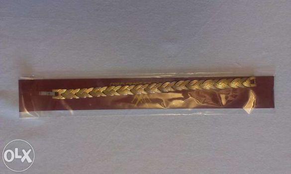 Ново! магнитна гривна със златно покритие