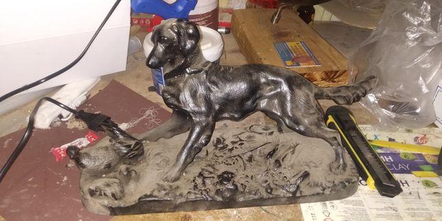 Антиквариат Касли Собака на охоте