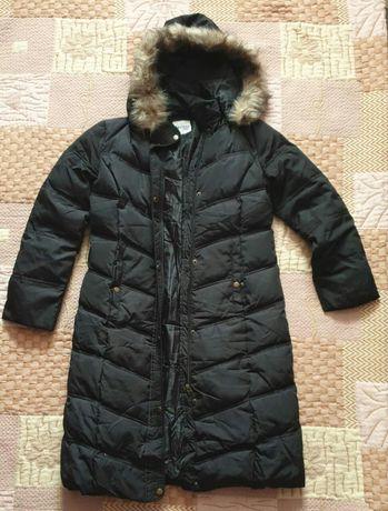 Пальто зимнее черного цвета De Facto