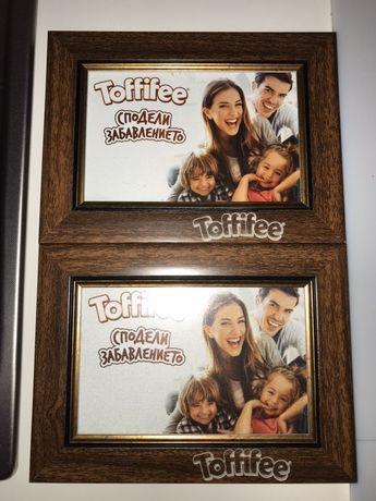2 БР брандирани рамки за снимки Toffifee