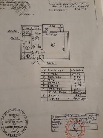 Garsoniera Parcul National Delta Vacaresti cf 1 , 40mp et1/4 an 1986
