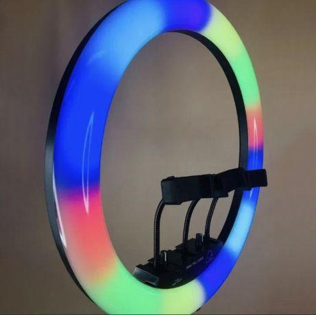 + Подарок! Цветная RGB Кольцевая лампа блогера селфи тик ток