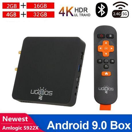 Смарт Тв Бокс ugoos am6 4K S922X UHD Quad Core Android 9.0 2GB/16GB
